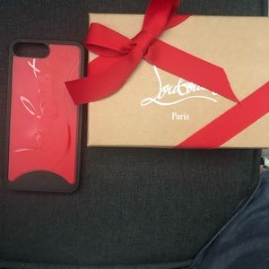Louboutin iPhone 8+ red and black phone case